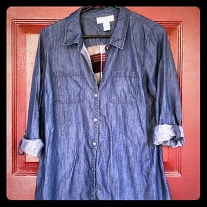 Jessica Simpson maternity flannel shirt